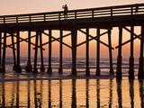 Newport Beach Pier at Sunset, Newport Beach, Orange County, California, United States of America, N Reprodukcja zdjęcia autor Richard Cummins
