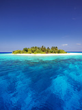 Tropical Island and Lagoon in Maldives, Indian Ocean, Asia Photographic Print by Sakis Papadopoulos