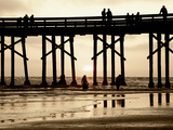 Pier at Sunset, Newport Beach, Orange County, California, United States of America, North America Photographic Print by Richard Cummins