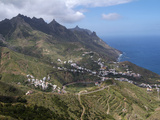 Anaga Mountains and Almaciga, Tenerife, Canary Islands, Spain, Atlantic, Europe Photographic Print by Hans-Peter Merten