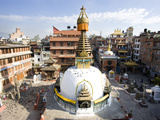 Buddhist Stupa in the Old Part of Kathmandu Near Durbar Square, Kathmandu, Nepal, Asia Photographic Print by Lee Frost