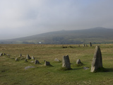 The Merrivale Stone Rows with Great Staple Door and Middle Staple Door in the Distance, Dartmoor Na Photographic Print by James Emmerson