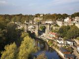 Knaresborough Viaduct and River Nidd in Autumn, North Yorkshire, Yorkshire, England, United Kingdom Photographic Print by Mark Sunderland