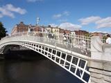 Halfpenny Bridge over River Liffey, Dublin, Republic of Ireland, Europe Photographic Print by Hans-Peter Merten