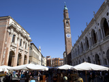 Piazza Dei Signori and the Bissara Tower, Vicenza, Veneto, Italy, Europe Photographic Print by Oliviero Olivieri