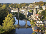Knaresborough Viaduct and River Nidd in Autumn, North Yorkshire, Yorkshire, England, United Kingdom Photographic Print by Mark Sunderland