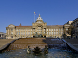 Council House and Victoria Square, Birmingham, Midlands, England, United Kingdom, Europe Photographic Print by Charles Bowman