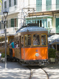 Colourful Tram in Placa Constitucio, Soller, Mallorca, Balearic Islands, Spain, Mediterranean, Euro Photographic Print by Ruth Tomlinson