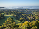 View South from Colley Hill on a Misty Autumn Morning, Reigate, Surrey Hills, Surrey, England, Unit Photographic Print by John Miller