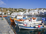 Fishing Boats in Mykonos Town, Island of Mykonos, Cyclades, Greek Islands, Greece, Europe Photographic Print by Richard Cummins