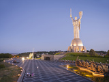Motherland Statue (Rodina Mat) and the National War Museum, Kiev, Ukraine, Europe Photographic Print by Graham Lawrence