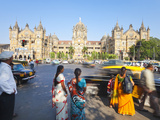 Chhatrapati Shivaji Terminus (Victoria Terminus), UNESCO World Heritage Site, Mumbai, Maharashtra S Photographic Print by Gavin Hellier