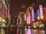 Neon Signs and Shoppers, Nanjing Road, Shanghai, China, Asia Photographic Print by Neale Clark