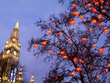 Christkindlmarkt at City Hall, Vienna, Austria, Europe Photographic Print by Hans-Peter Merten