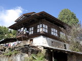 Traditional Bhutanese House in the Bumthang Valley, Bhutan, Asia Photographic Print by Lee Frost