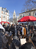 Artists and Tourists in the Place Du Tertre, Montmartre, Paris, France, Europe Photographic Print by Martin Child