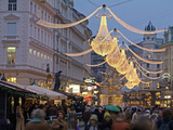 Christmas Decoration at Graben, Vienna, Austria, Europe Photographic Print by Hans-Peter Merten