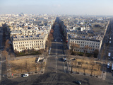 Avenue De Wagram from the Top of the Arc De Triomphe, Paris, France, Europe Photographic Print by Martin Child