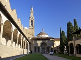 Pazzi Chapel and the Cloisters, Basilica of Santa Croce, Florence, UNESCO World Heritage Site, Tusc Photographic Print by Peter Barritt