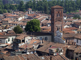 View of the Cathedral, Lucca, Tuscany, Italy, Europe Photographic Print by Oliviero Olivieri