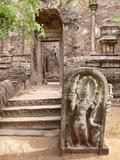 Lankatilaka Image House at Polonnaruwa Ruins, UNESCO World Heritage Site, Sri Lanka, Asia Photographic Print by Kim Walker