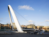 Millennium Bridge, Gateshead, Tyne and Wear, England, United Kingdom, Europe Photographic Print by Mark Sunderland