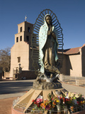 Statue of Our Lady of Guadalupe, El Santuario De Guadalupe Church, Built in 1781, Santa Fe, New Mex Photographic Print by Richard Maschmeyer