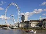 London Eye, River Thames, London, England, United Kingdom, Europe Photographic Print by Jeremy Lightfoot