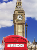 Red Telephone Box and Big Ben, Westminster, UNESCO World Heritage Site, London, England, United Kin Photographie par Marco Simoni