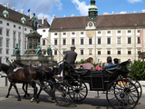 Horse-Drawn Carriage at the Hofburg, Vienna, Austria, Europe Photographic Print by Hans-Peter Merten