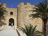 Castle Bordj El Kebir, Houmt Souk, Island of Jerba, Tunisia, North Africa, Africa Stampa fotografica di Hans-Peter Merten