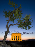 Tempio Di Concordia (Concord) and Almond Tree at Dusk, Valle Dei Templi, UNESCO World Heritage Site Photographic Print by Stuart Black