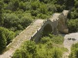 Lazaridis (Kontodimos) Bridge, Dating from 1753, Kipi, Zagoria Mountains, Epiros, Greece, Europe Photographic Print by Rolf Richardson