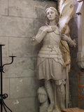 Statue of St. Joan of Arc, Dol Cathedral, Dol De Bretagne, Brittany, France, Europe Reproduction photographique par Nick Servian