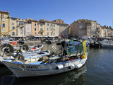 Fishing Boats in Vieux Port Harbour, St. Tropez, Var, Provence, Cote D'Azur, France, Mediterranean, Photographic Print by Peter Richardson