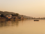 Ferry Crosssing the River Ganges at Sunset, Haridwar, Uttaranchal, India, Asia Photographic Print by Mark Chivers