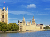 Big Ben, Houses of Parliament, and River Thames, Westminster, UNESCO World Heritage Site, London, E Photographic Print by Marco Simoni