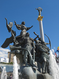 Monument to the Founders of Kiev, Independence Square, Kiev, Ukraine, Europe Photographic Print by Graham Lawrence