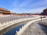 Inner Golden Water River Flowing Through the Outer Court, Forbidden City, Beijing, China, Asia Photographic Print by Neale Clark