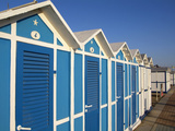 Beach Huts, Riccione, Adriatic Coast, Emilia-Romagna, Italy, Europe Photographic Print by Hans-Peter Merten