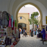 Souvenir Stalls Inside Shopping and Restaurant Complex, the Medina, Yasmine Hammamet, Cap Bon, Tuni Photographic Print by Stuart Black