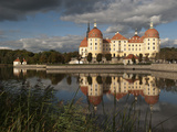 Baroque Moritzburg Castle and Reflections in Lake, Mortizburg, Sachsen, Germany, Europe Photographic Print by Richard Nebesky