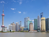 Skyline with Oriental Pearl Tower and Pudong Skyscrapers, Shanghai, China, Asia Photographic Print by Neale Clark