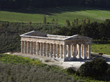 View over the Greek Doric Temple, Segesta, Sicily, Italy, Europe Photographic Print by Stuart Black