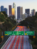 Pasadena Freeway (Ca Highway 110) Leading to Downtown Los Angeles, California, United States of Ame Photographic Print by Gavin Hellier
