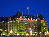 The Empress Hotel at Night, Victoria, Vancouver Island, British Columbia, Canada, North America Photographic Print by Martin Child