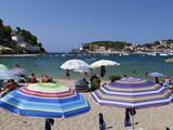 View over Beach, Port De Soller, Mallorca (Majorca), Balearic Islands, Spain, Mediterranean, Europe Photographic Print by Stuart Black