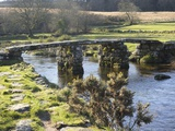 Clapper Bridge at Postbridge, Dartmoor National Park, Devon, England, United Kingdom, Europe Photographic Print by Peter Groenendijk