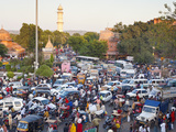Traffic Congestion and Street Life in the City of Jaipur, Rajasthan, India, Asia Photographic Print by Gavin Hellier