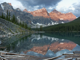 Early Morning Reflections in Moraine Lake, Banff National Park, UNESCO World Heritage Site, Alberta Photographic Print by Martin Child